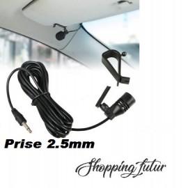Microphone 2.5mm pour autoradio et gps avec sortie micro et bluetooth