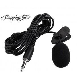 Microphone Cravate Compact avec Clip Pince Câble Micro PC Ordinateur Skype